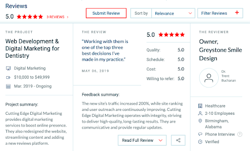 reviews-for-dental-seo-agency