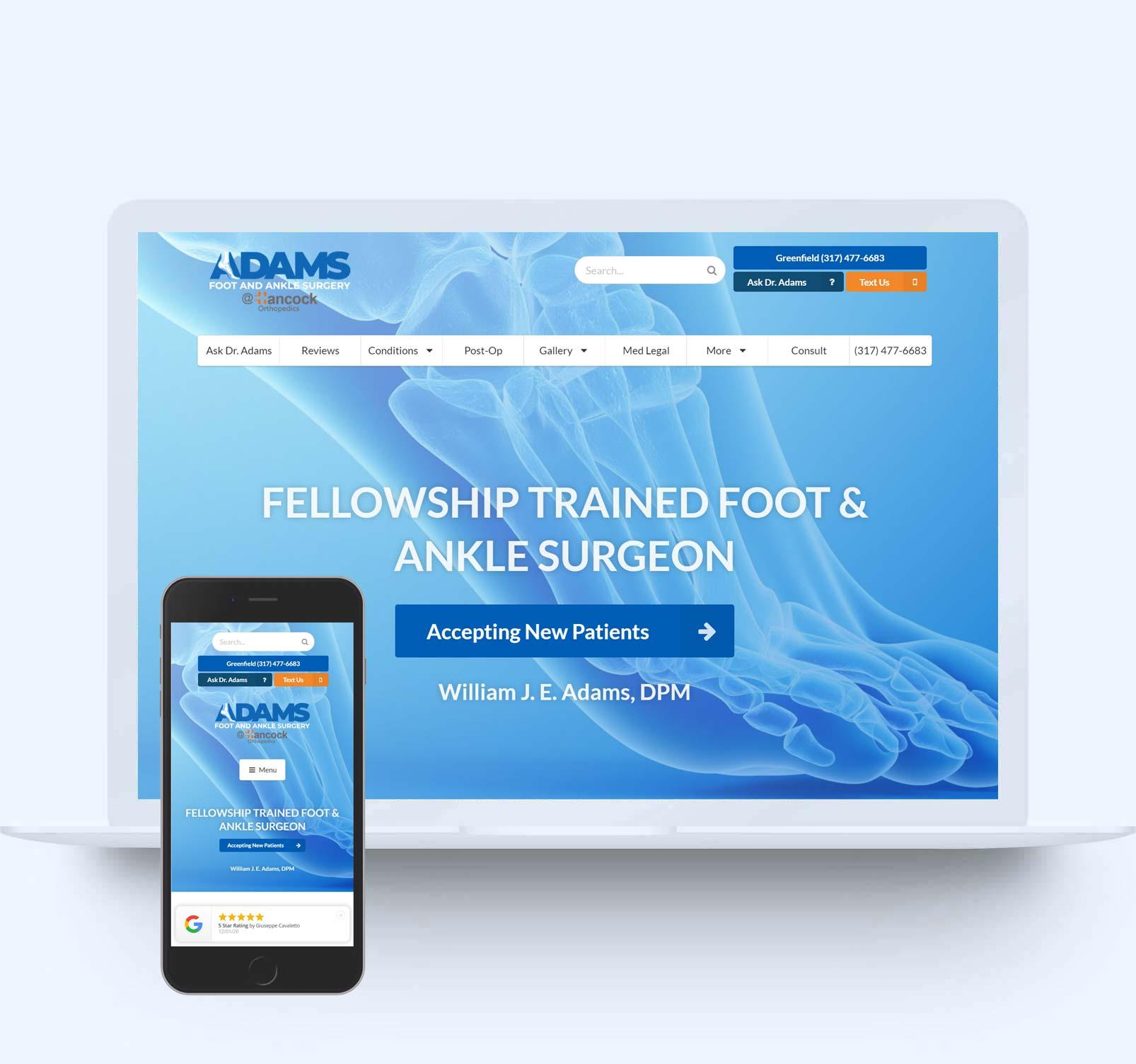 adams-foot-ankle-surgery-website-design
