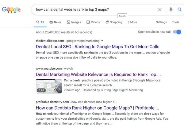 video-for-dental-website-ranking-google-maps-example